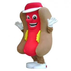 Giant Hotdog Mascot Costume