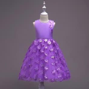 Anissa Floral Patches Sleeveless Girls Wedding Tutu Princess Dress