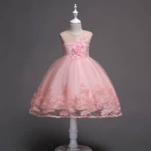 Anne Sleeveless Floral Patch Girls Princess Wedding Dress