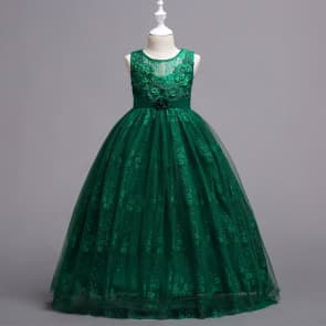 Benita Floral Rain Embroidery Crochet Girls Wedding Princess Dress