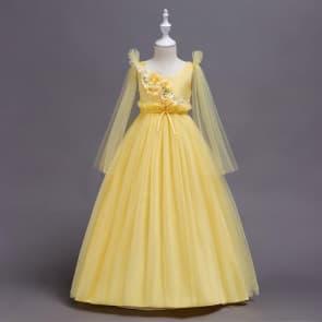 Eleonora Floral Long Sleeve Mesh Girls Wedding Princess Dress