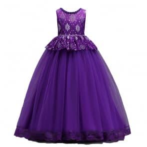 Felicity Floral Lace Girls Wedding Princess Dress