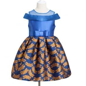 Gisela Dragonfly Printed Off-shouler Girls Princess Dress