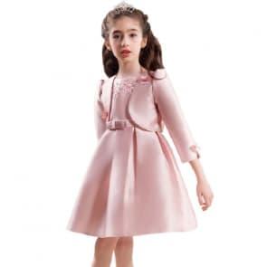 Haylee 2pcs set Floral Crochet Girls Princess Dress