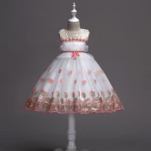 Hollie Sleeveless Foil Gold Girls Wedding Princess Dress