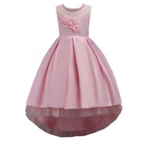 Tessa Floral Lace Embroidery Girls Wedding Princess Dress
