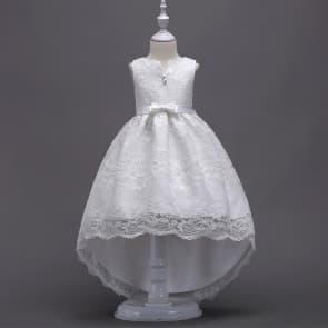 Whitney Floral Lace with BigBow Girls Wedding Princess Dress